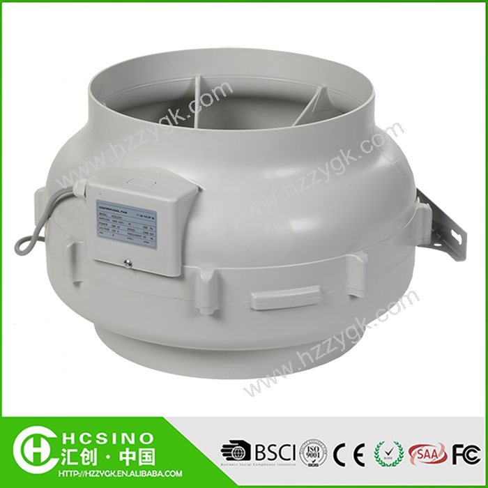 Industrial 3000rpm HEPA System Centrifugal Blower Fan/ Hydroponics Garden Ventilation Centrifugal Exhaust Fan