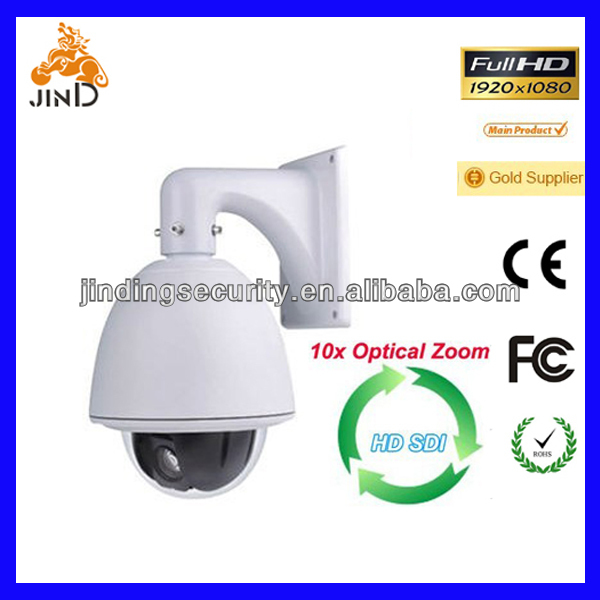 1/2.8 Sony 2MP CMOS Full HD 1080P HD-SDI 10X Optical Zoom IP66 PTZ Camera (JD-98F1SDI)