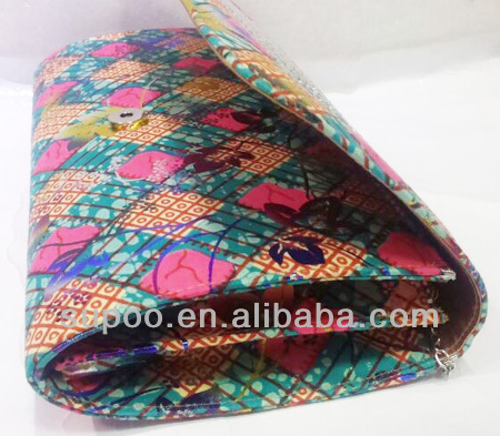 2014 New arrival Fashion Tote Bag African Wax Printed Fabric Bag (B126)