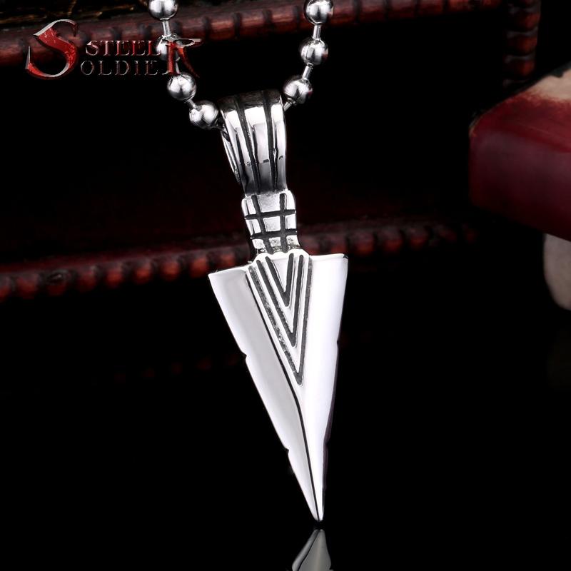 Стали солдат из нержавеющей стали ювелирные изделия стрелка кулон мужчины торговли панк ожерелья BR-P006