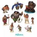 6pcs 10PCS set Moana Princess Presale NEW Moana Maui Waialik Heihei Action Figures Toy Decoration gift