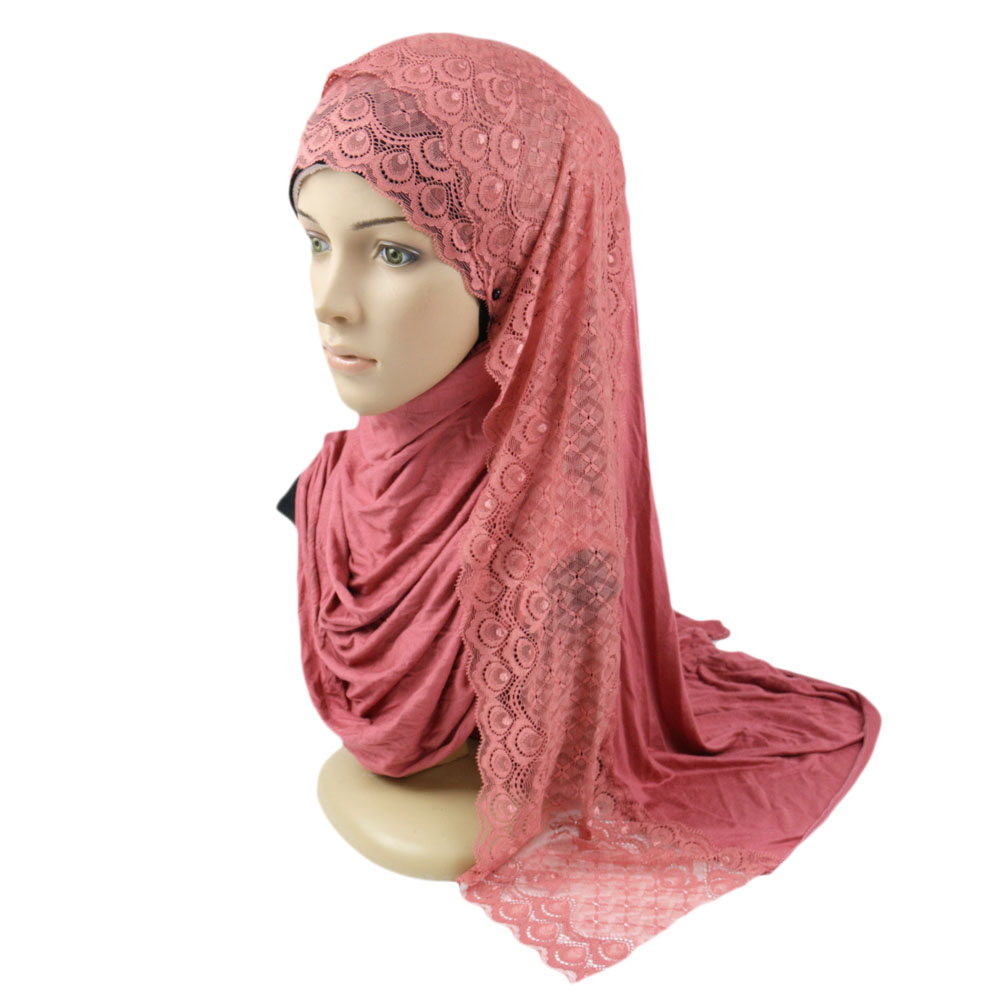 Arab Muslim Boutique Islamic beaded jersey cotton Hijab