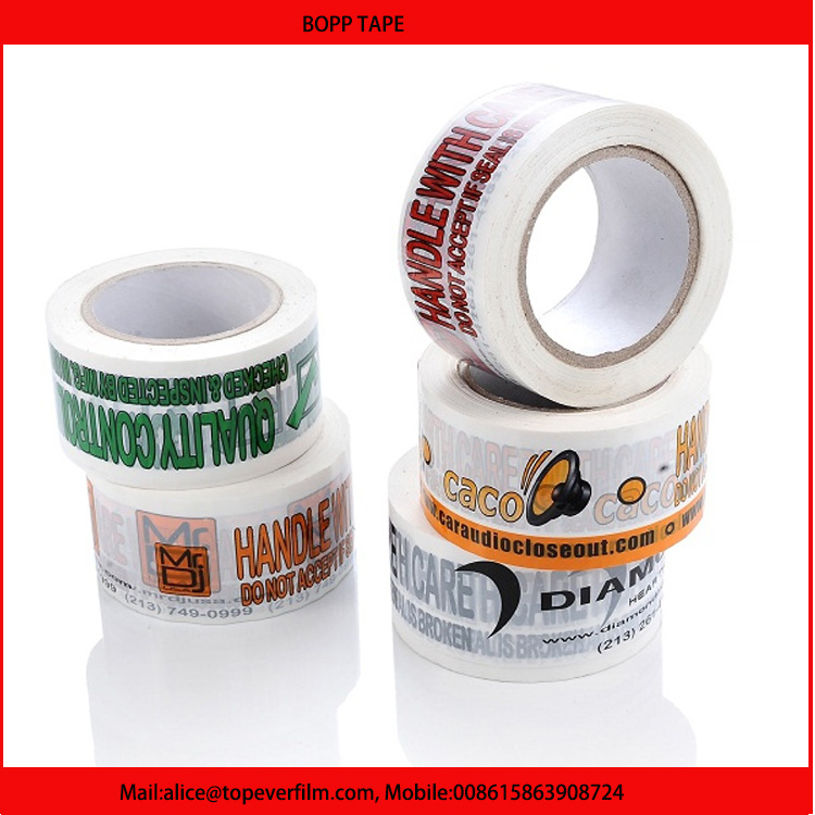 Customized Size Packaging Brand Name Bopp Tape