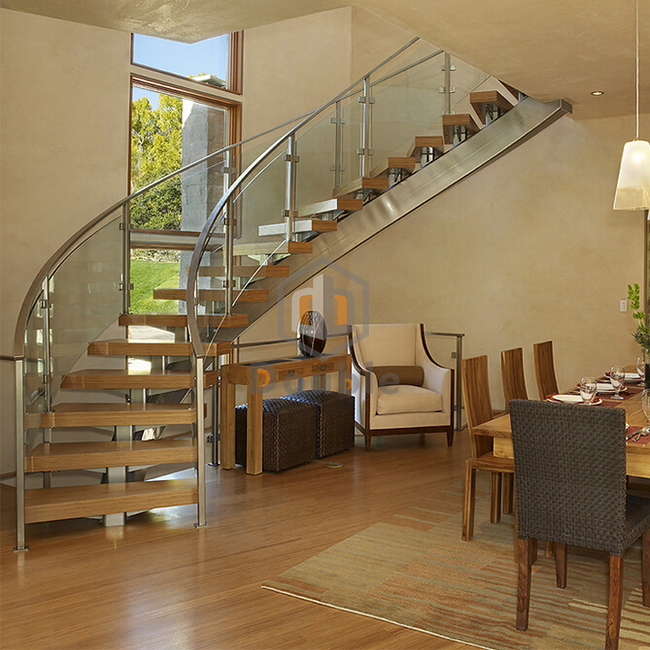 Curved Staircase With Open Riser, Curved Staircase With Open Riser  Suppliers And Manufacturers At Alibaba.com