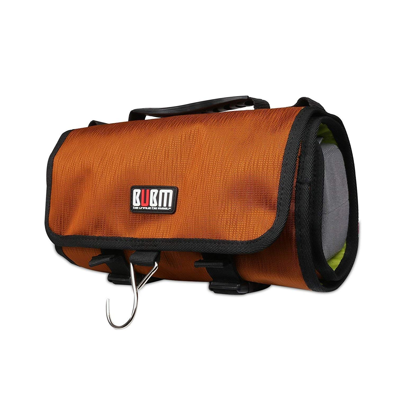 BUBM Large Canvas Travel Roll Bag, Action Camera Rollup Protective Case Shoulder Bag (Gold) for GoPro Hero6/5/4/3+/3, SJ7 STAR SJ5000/SJ4000, Sports Camera Accessories