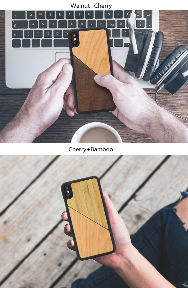 Best Quality Genuine Real Wood Phone Cover Case For iPhone XS MAX