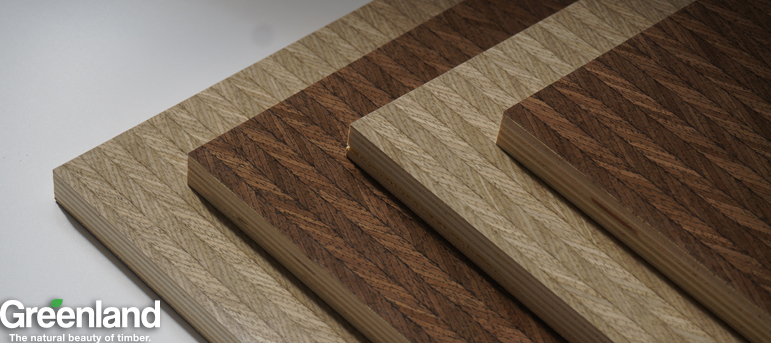UV Engineered  Wave Wood Veneer Plywood