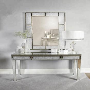 Moderne Europaische Wohnzimmer Luxus Gespiegelt Mobel Diamant Konsole Tisch Mit Wand Spiegel Buy Diamant Wand Spiegel Luxus Konsole Tisch Mit