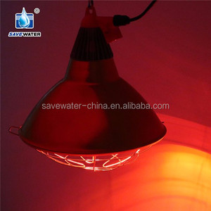 Waterproof ceramic infrared heating bulbs red/white with stainless steel lampshade 120V-220V,175W-375W