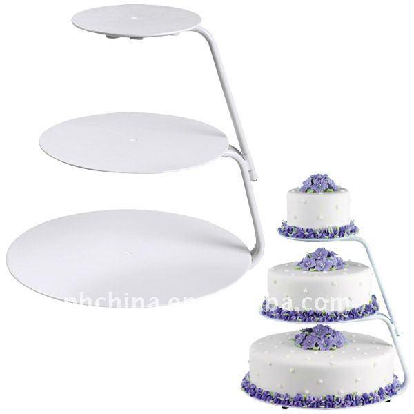 3 Tier Wilton Round Acrylic Cupcake Cake Stand Wedding Cake
