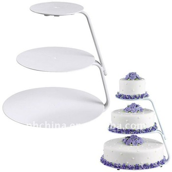 3 Tier Wilton Round Acrylic Cupcake Cake Stand / Wedding Cake Stand ...