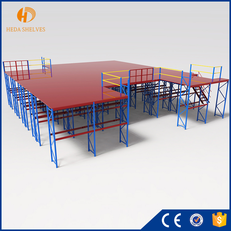 Guangzhou customized Storage Steel Mezzanine Rack Floor