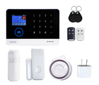 Sensor PIR Motion Detector Wireless LCD Wifi GSM SIM card House security Alarm system Smoke Flash Siren