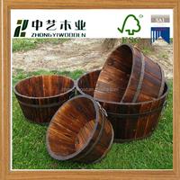 FSC unfinished OEM Handmade cheap custom wooden plant pots wholesale