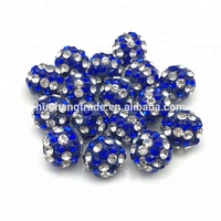 Cheap Wholesale Stripe Rhinestone Beads Clay Pave Crystal Beads for DIY Bracelet Necklace Jewelry