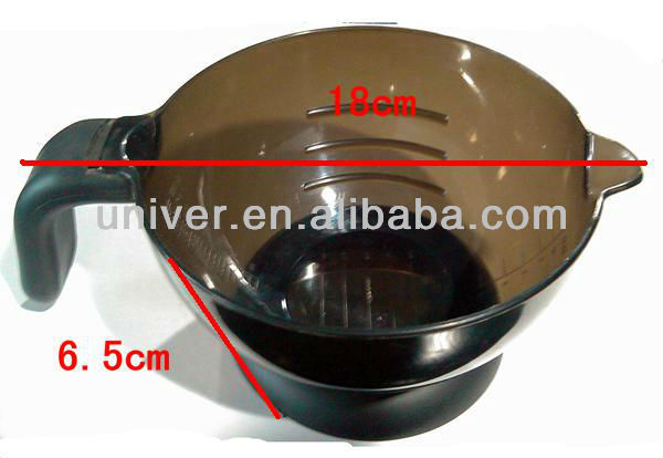 New Hot Sell Salon Colorful Plastic Hair Tinting Dyeing Bowl with Rubber Handle & Bottom