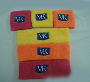 Fully Custom Made Cotton Sports Wristband for Promotion