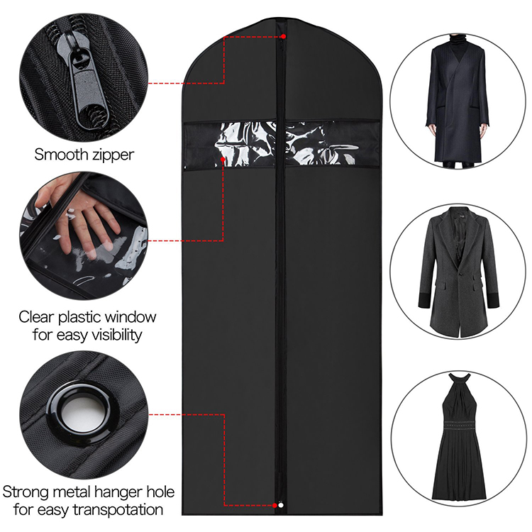 프로모션 큰 capacity foldable 숨 비 길쌈 fabric zip lock garment bag