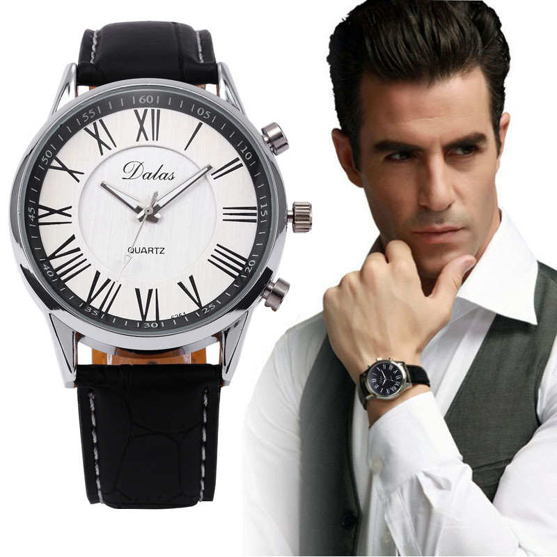 Мужчины бизнес кварцевый часы стильный мужчины полиуретан кожа военный часы спорт свободного покроя аналоговый до запястья часы Relogios