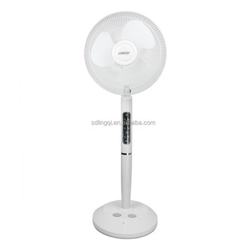 16'' Rechargeable Fan With Energy Saving Light Dc Chargers