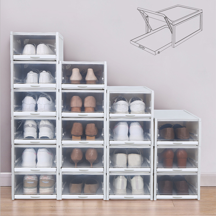 plastic clear drawer type shoe box