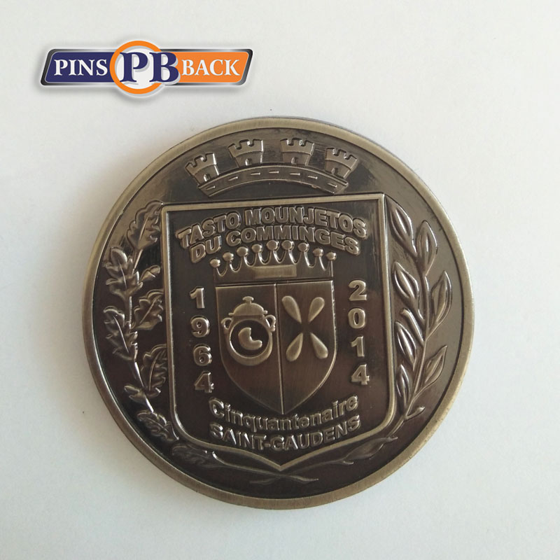 Promotional Cheap Custom Challenge Coins Factory Metal Casting 3D Antique Commemorate Coins