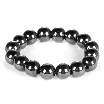 Weight Loss Round Black Stone Magnetic Therapy Bracelet For Women Men Health Care Magnetic Hematite Beaded Stretch Bracelets