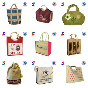 Cheap Wholesale Jute Shopping Cosmetic Beach Tote Bags