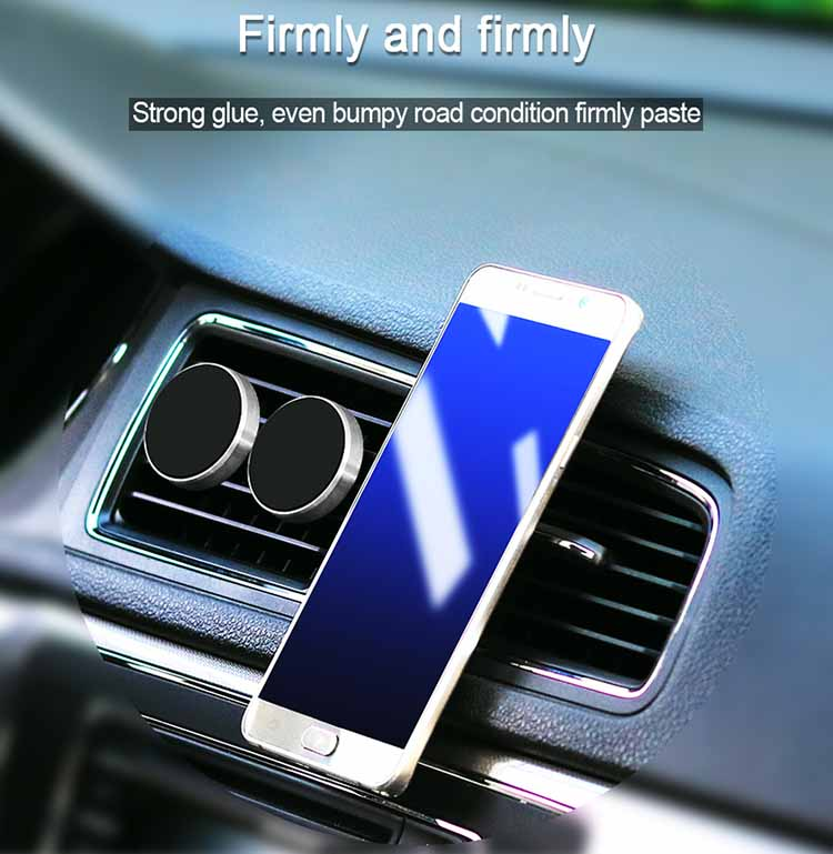 Circle Alloy Aluminum Holder Mobile Phone Magnetic Car Holder