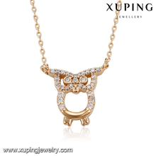 43766 Exquisite jewelry owl pendant necklace best quality environment copper long necklace