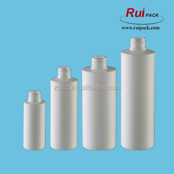 50ml to 500ml HDPE bottle White PE bottle with flat shoulder