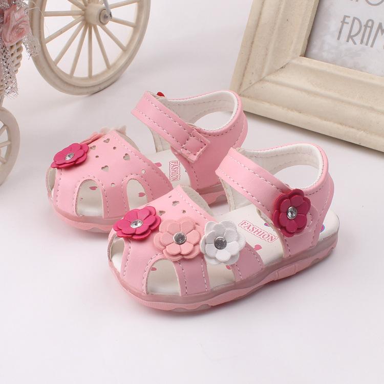 37793083601a 2018 Summer 0 To 24 Months Baby Girl Sandals Non Slip Soft Bottom ...