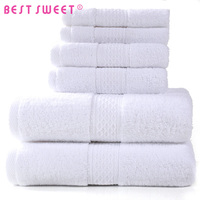 whoselase 100% cotton customized cheap white dobby hotel bath towel set