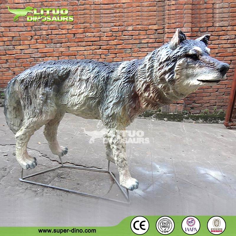 Hot Sale Life Size Animal Statues Wolf