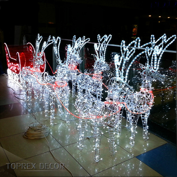 Outdoor Lighted Standing Reindeer With Sleigh Led Christmas Lights Buy Reindeer With Sleigh Led Christmas Lights Christmas Standing Reindeer Outdoor