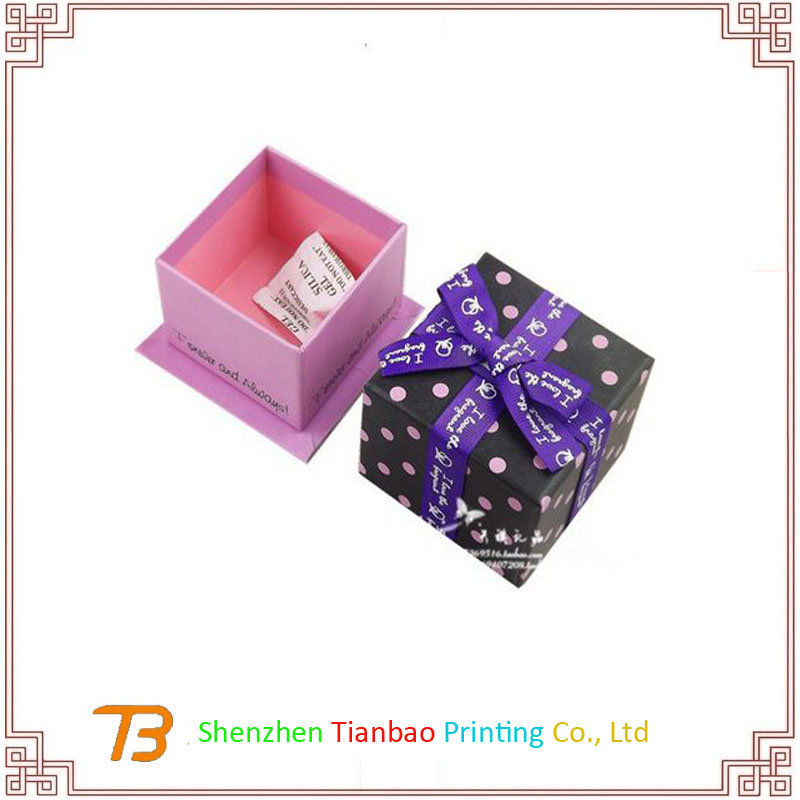 Christmas Deco Gift Packaging Box Paper Box With Ribbon
