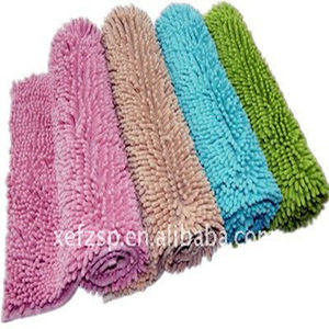machine washable water absorber 100% cotton chenille rug