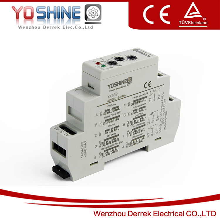 Yx632 din rail mountable 12v 240v acdc timer relay 12 volt time yx632 din rail mountable 12v 240v acdc timer relay 12 volt time delay sciox Gallery