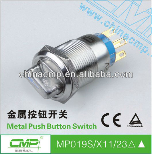 CMP 19mm new waterproof metal 3 position button switches 240v