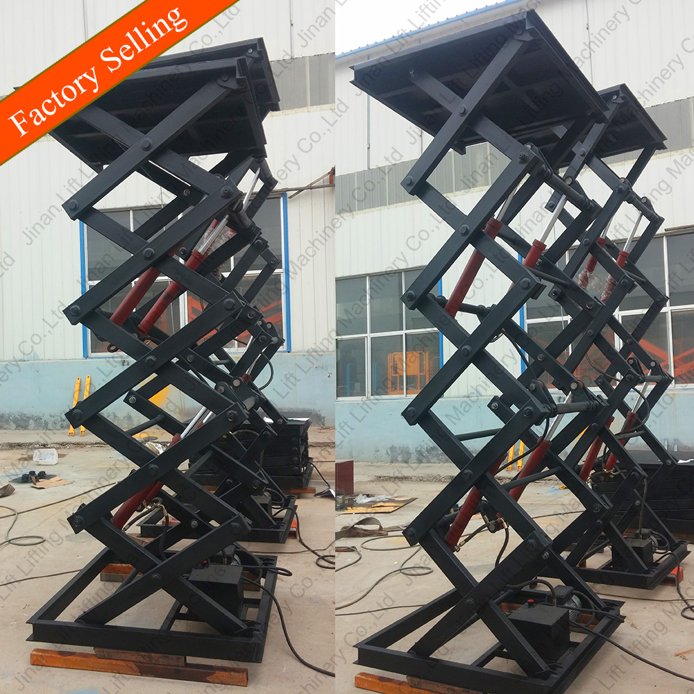 Stationary electric scissor lift 220v China/Scissor lift platform price/Vertical platform lift