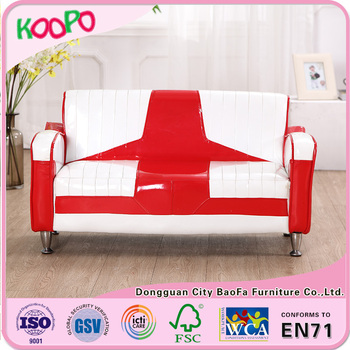 Shinny Pvc Kids Children 2 Seat Mini Sofa Chair