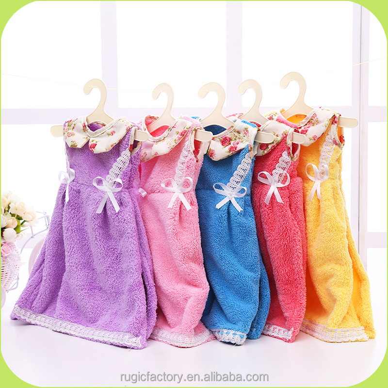 Buy Direct From China Factory Flower Girl Dresses Microfiber Kitchen Cartoon Hand Towel