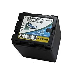 Panasonic VW-VBN130 Decoded Battery Replacement (3200mAh) - Compatible with Panasonic HDC-TM900, HC-X900, HC-X900M, HDC-HS900, HDC-SD900, HDC-TM900K, HDC-SD800, VW-VBN130E-K, VW-VBN260, HC-X800