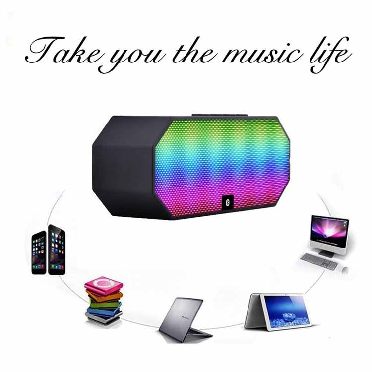 Black Portable Square Bluetooth Wireless Boombox Stereo Speaker E925 For Smart Phone Tablet