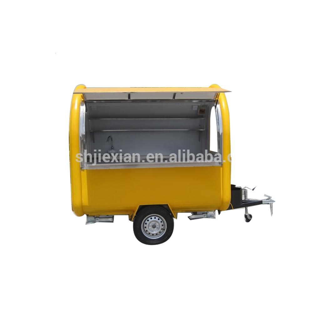 2.2 metros pequeno caminhão de alimentos móvel para lama cachorro quente sorvete de café fast food truck bicicleta preço de fábrica China para venda