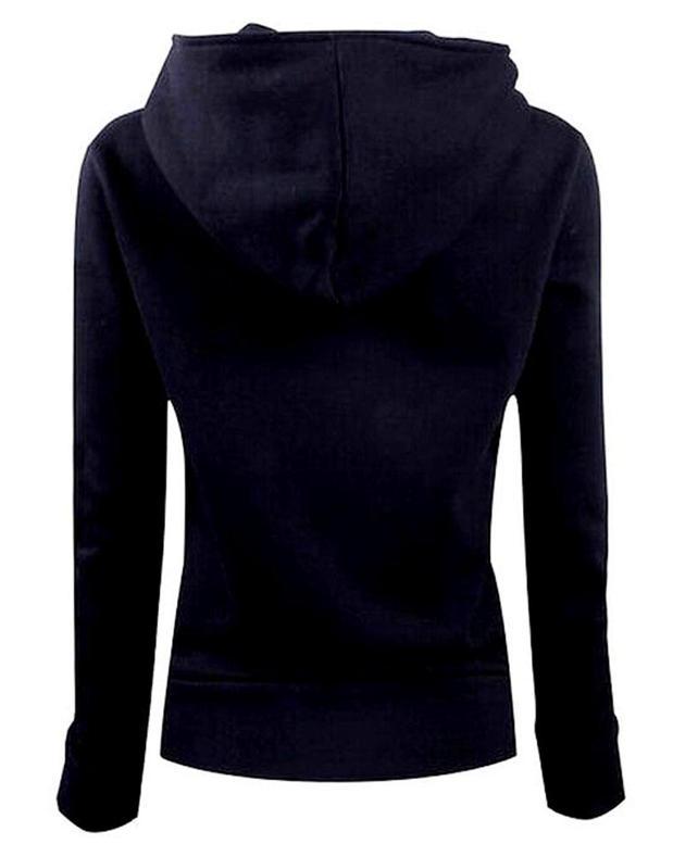 Бесплатная доставка женщины уменьшают подходящую моде теплые твердые на молнии с длинным рукавом стенд воротник нерегулярные нерегулярные кнопку сладкий черный пиджак