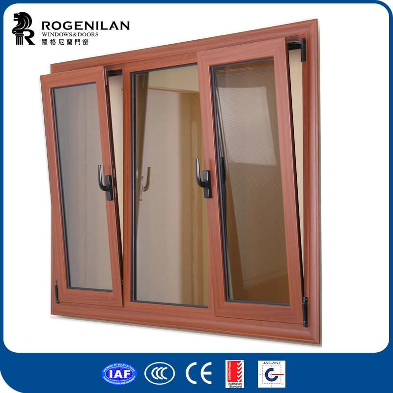 Rogenilan 45 serie de madera del grano de aluminio - Ventanas oscilobatientes aluminio precios ...