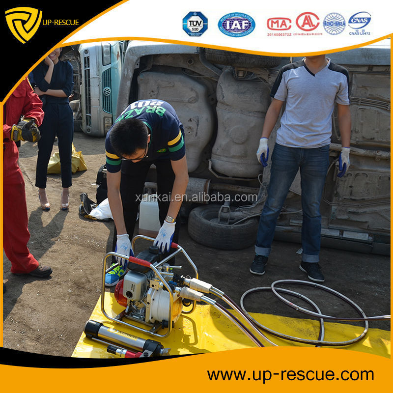 Fire brigade tools in operation hydraulic tools hand pump