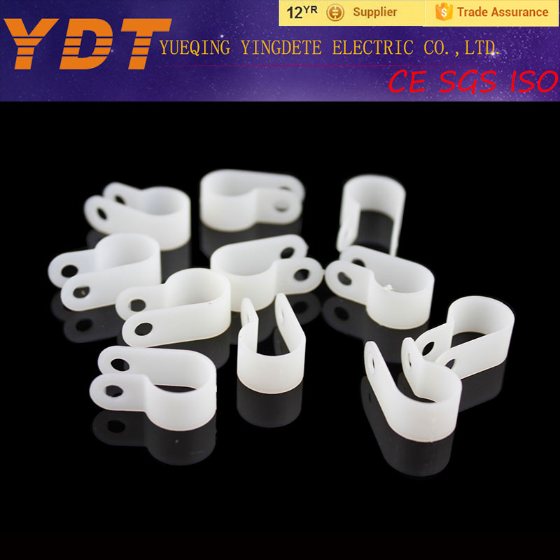 R-type nylon PA66 plastic cable clamps