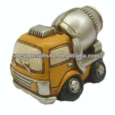 Small Decoration Resin Truck Models Cement Truck